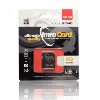 Paměťová karta 32GB Imro microSDHC class 10 s adaptérem