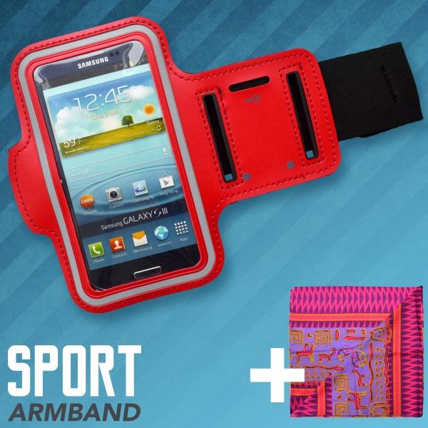 Pouzdro sportovní na rameno 2ML červené + multifunkční šátek. Zobrazit v plné  velikosti 08151ffef5