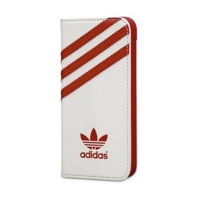 Adidas pouzdro knížka Apple iPhone 5/5C/5S/SE England bílé