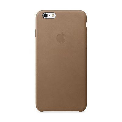 Apple pouzdro plastové Apple iPhone 6/6S Plus Leather Cover Brown