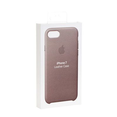 Apple pouzdro plastové Apple iPhone 7/8 Leather Cover Taupe