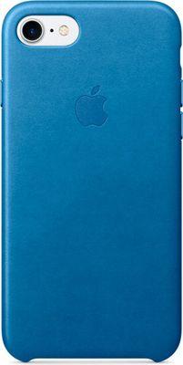Apple pouzdro plastové Apple iPhone 7/8 Leather Cover Sea Blue