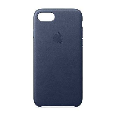 Apple pouzdro plastové Apple iPhone 7/8 Lether Cover Midnight Blue