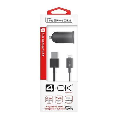 Autonabíječka 4-OK Apple iPhone 5/5C/5S/SE/6/6S 2.4V certifikova