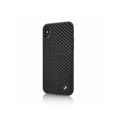 BMW pouzdro plastové Apple iPhone X BMHCPXMBC Carbon Fiber černé