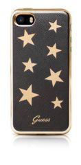 Guess pouzdro gumové Apple iPhone 5/5C/5S/SE GUHCPSESTABK hnědé s hvěz