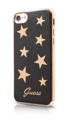 Guess pouzdro gumové Apple iPhone 7 GUHCP7STABK hnědé s hvězdičkama