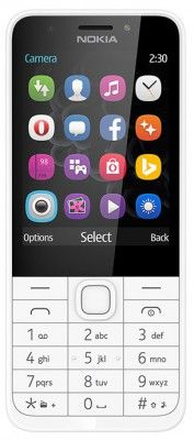 Nokia 230 DUAL stříbrný