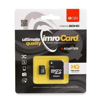 Paměťová karta Imro 8GB microSDHC TransFlash s adaptérem PT