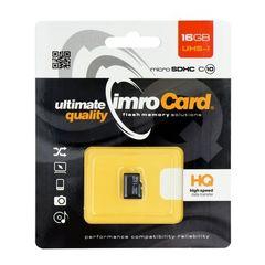 Paměťová karta 16GB Imro microSDHC class 4 bez adaptéru