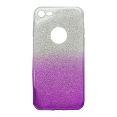 Pouzdro gumové Apple iPhone 7 fialové s třpytkama