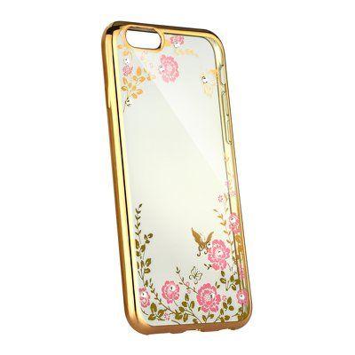 Pouzdro gumové Apple iPhone 7/8 Diamond zlaté PT
