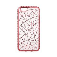 Pouzdro gumové Apple iPhone 6 6S Luxury Metalic růžové PT 3b2e23d6b65