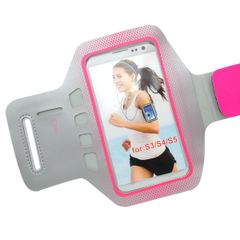 Pouzdro sportovní Samsung I9600 Galaxy S5 šedé/růžové